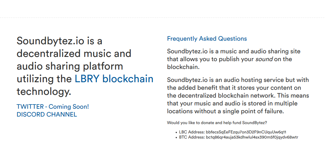 Soundbytez.io – A Decentralized Music Sharing Platform